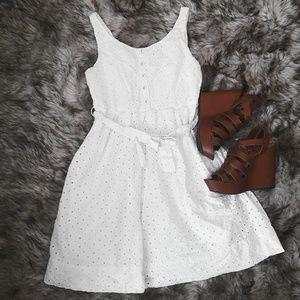 American Rag White Buttoned Sundress