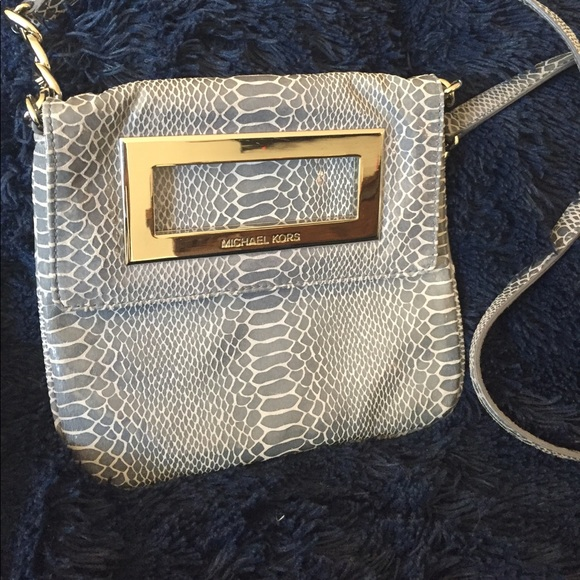 8f2596dc7286 Michael Kors Bags | Berkley Bag Indigo Blue Python Snake | Poshmark