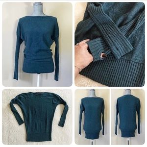 VS Moda International wool blend teal Sweater, XS