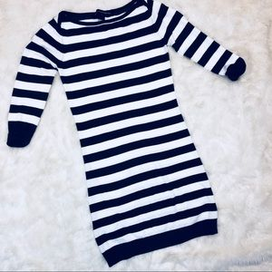 French Connection Stripe Bodycon Sweater Dress