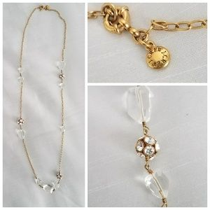 J. Crew crystal & chain necklace