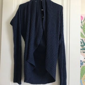 Navy cashmere shrug size M/L