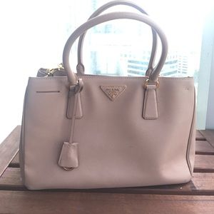 Prada Women's Saffiano Leather Handbag- pale pink