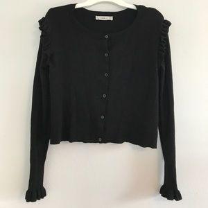 Zara Knit Black Cardigan Sweater