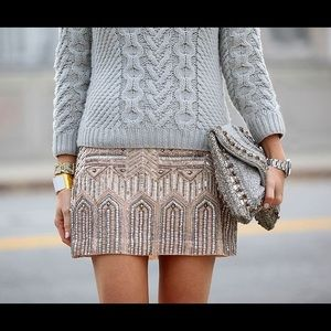 Club Monaco sequin Hattie skirt