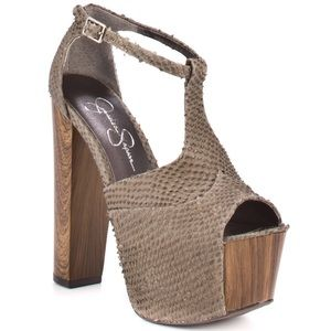 Jessica Simpson DANY Platform Wooden Heel 8