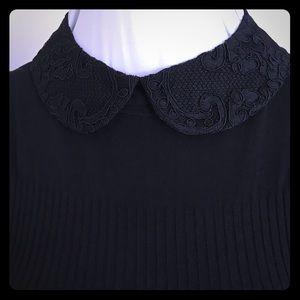 Alice + Olivia Detachable Black Lace Collar