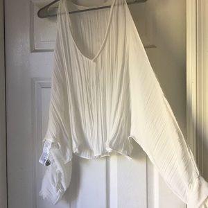 Pleated white Zara blouse
