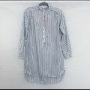Striped button down smock