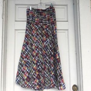 Sz 12 JCrew strapless dress