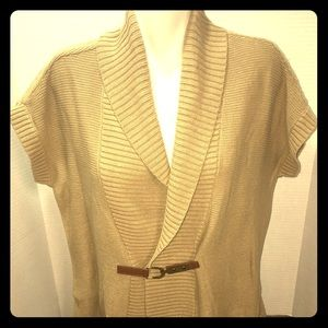 Chaps Women's Size XL Shrug Sweater Buckle Front