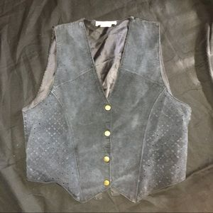 Vintage Midwest Traders Vest Leather Suede M L
