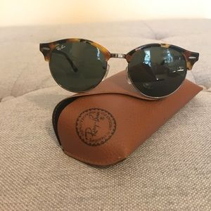 Like New Ray-Ban Round Clubmaster Sunglasses