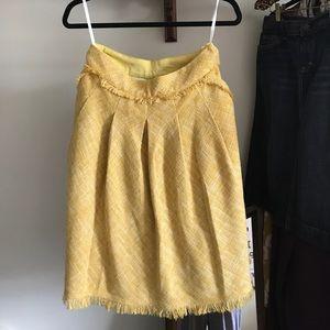 Anthropologie- Meave Yellow Tweed Skirt