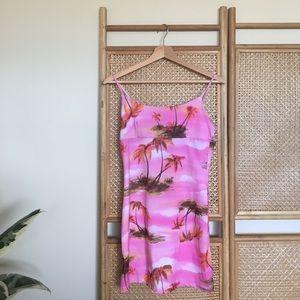 💀 HALLOWEEN 💀 Clueless Pink Palm Tree Dress