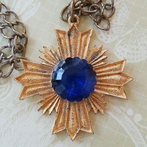 Vintage Maltese cross pendant necklace