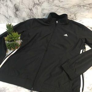 Black adidas track jacket zip Xl