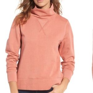 New Madewell Garment Dyed Funnel Neck Sweatshirt