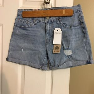 Womens levi denim shorts.