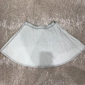 American Apparel Jean Skirt Size Medium