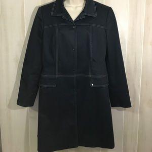 Tahari Arthur S Levine navy coat 12