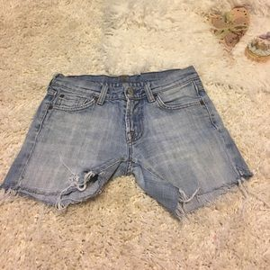 💝7 for all mankind cut offs shorts from jeans 25