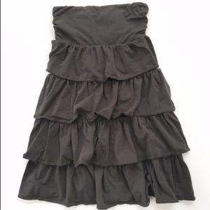 J. Crew Gray Ruffled Skirt - XL
