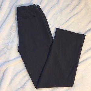 J. Crew Wool Dress Pants 4 Dark Gray Flat Front
