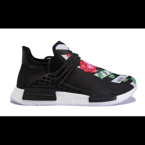 Adidas shoes nmd human race black white flower poshmark adidas nmd human race black white flower mightylinksfo