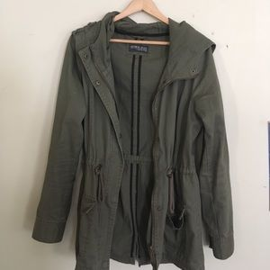 ARMY GREEN COTTON ON JACKET