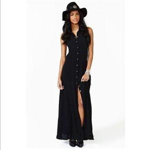 Nastygal Button down Maxi Dress