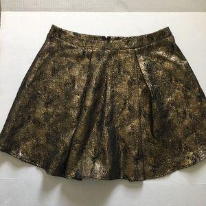 NWT Charlotte Russe Gold & Black Skirt