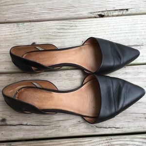 Madewell Leather Pointed Flats