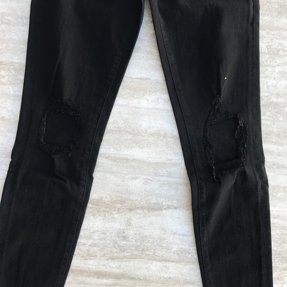 Frame Denim Jeans - Frame Skinny De Jeanne Crop Lord Noir Jeans Sz 27