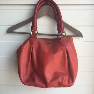 Coral Pink Leather J. Crew Purse