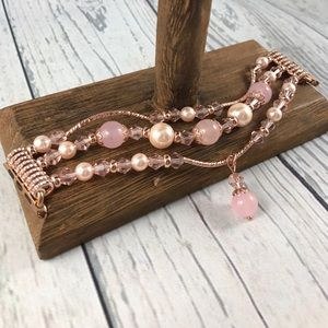 38mm Beaded Rose Pink Gold Band 4 Apple Watch