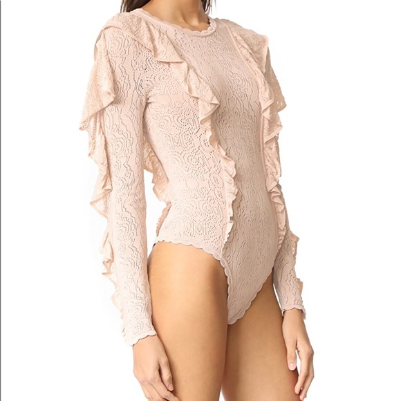 Ronny Kobo Collection Other - Blush Lace Knit Bodysuit
