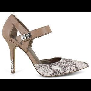 BCBG Snakeskin heels girls night out date night