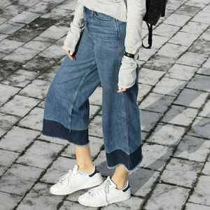 UNIQLO High Waisted Cropped Jeans