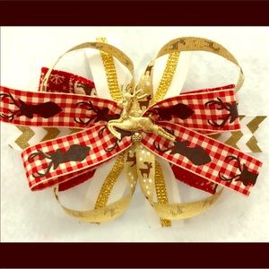 Other - Gold reindeer hair bow