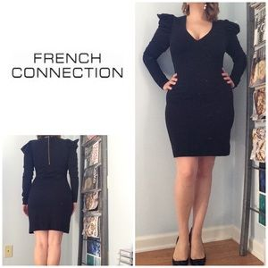 French Connection Long Sleeve Body Con Dress