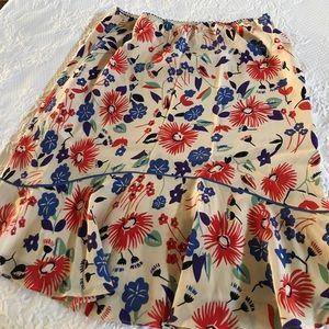 Anthropologie multi color skirt