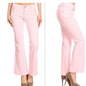 Pink Corduroy Flare Pants