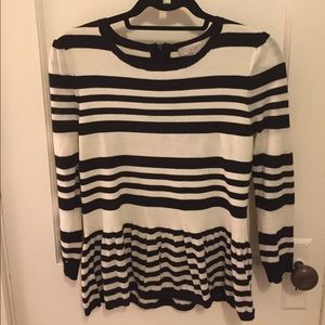 Striped Peplum Sweater