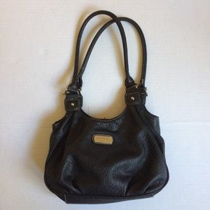 Black Rossetti faux leather purse