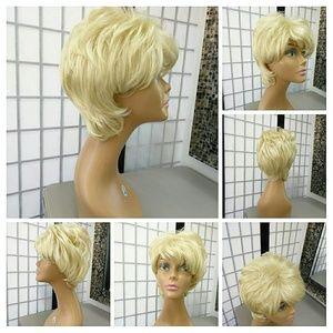 #SyntheticWig Blonde Wig~  Adjustable wigcap~