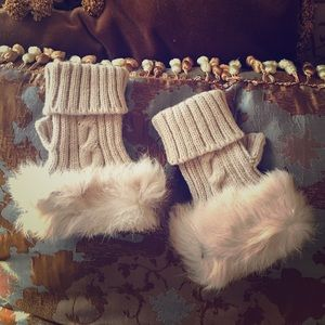 New Rabbit fur trim fashion Gloves
