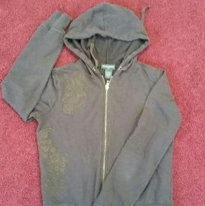 Banana Republic brown embroidered Hoodie ,S