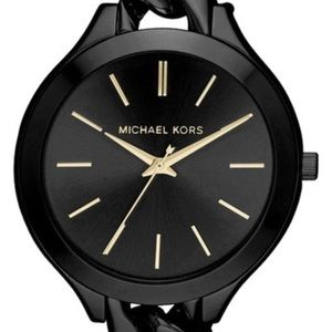 MK3317 BLACK CHAIN RUNWAY WATCH
