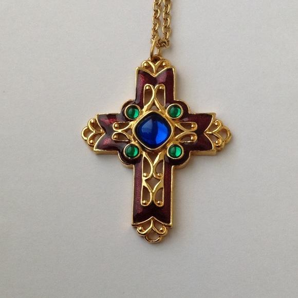 Avon vintage cross necklace